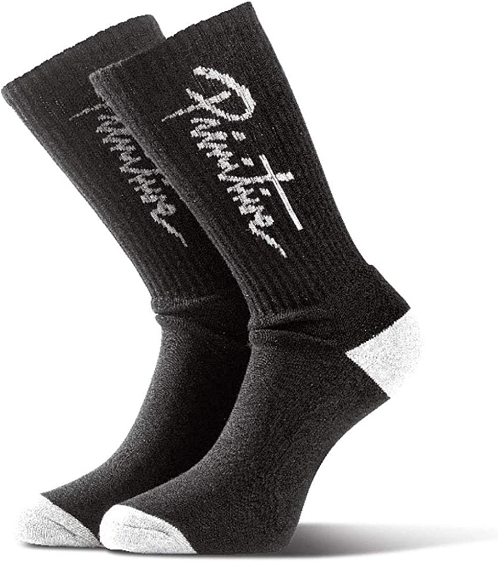 Primitive Men's Nuevo Script Crew Socks Black