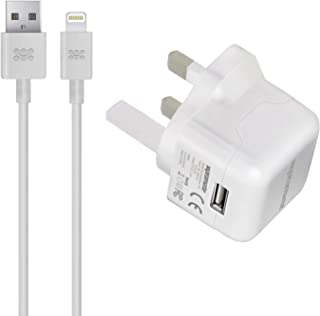 Promate 5ft Wall Charger with MFi Lightning Cable, for iPhone 7