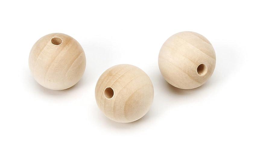 Darice 9119-48 Big Value Wood Round Bead, Natural, 25mm