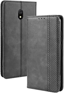 Yhuisen PU Leather+Soft Inner Design Business Magnetic Closure Flip Wallet Case Cover Compatible with Redmi 8A (Color : Bl...