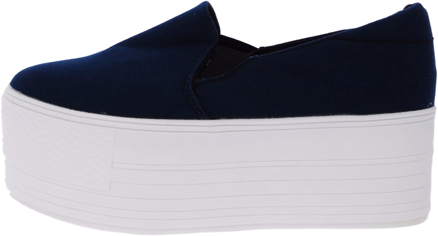 Maxstar C7 60 Synthetic Cotton White Platform Slip on Sneakers