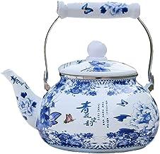 Koffie Sets Porselein Email Pot Melk Theepot Koffiepot Decocting Pot Inductie Fornuis Universele Emaille Waterkoker Blauw ...