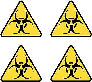 Samunshi® Biohazard Aufkleber Set Biohazardaufkleber 4 Aufkleber zu 4x3,5cm