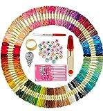 ZMYY Juego de 2 hilos de bordado, paquete de 100 madejas con 100 cuentas para pulsera y otras herramientas necesarias, bonito y colorido kit para hacer pulseras de la amistad para adultos.