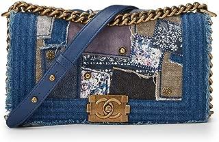 Denim Patchwork Boy Bag Medium (Pre-Owned)