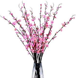 6 pcs Plum Blossom Artificial Flowers Simulation Flower Table Decoration Silk Flower Accessories Party Theme Home Decorati...