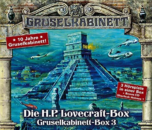 Gruselkabinett - Box 3: Pickmans Modell, Der Tempel, Das Ding auf der Schwelle. Drei H.P. Lovecraft-Hörspiele + Bonus-CD.