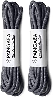 [2 Pairs] Pack Waxed Round Oxford Shoe Laces for Dress Shoes Chukka 3/32Inch Thin