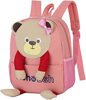 AMUSTER Enfant Sac à Dos pour Filles Garçons sac dessin animé ours modèle dessin animé sac à dos enfant sac (D)