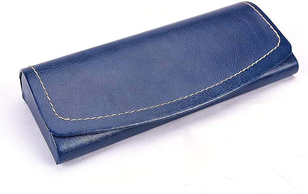 Portable Eyeglass Case Retro Fashion Travel PU Leather Sunglasses Case Glasses Case Hard Shell Pouch Bag for Women Men Kids