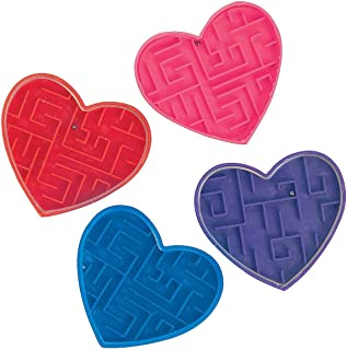 Valentine Maze Puzzles (72 Pack) Valentine's Day Party Favors Gifts Kids, Bulk Pack Kids Class Gift Set for Valentine Clas...