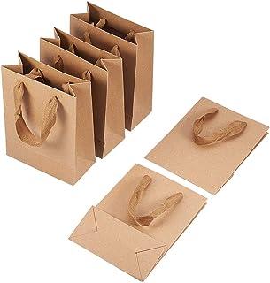 PandaHall - 10Pcs Sacs en Papier Kraft Pochette Sachets Kraft Cadeau 16x12x5.7cm Rectangle Emballage Cadeaux avec Poignées...