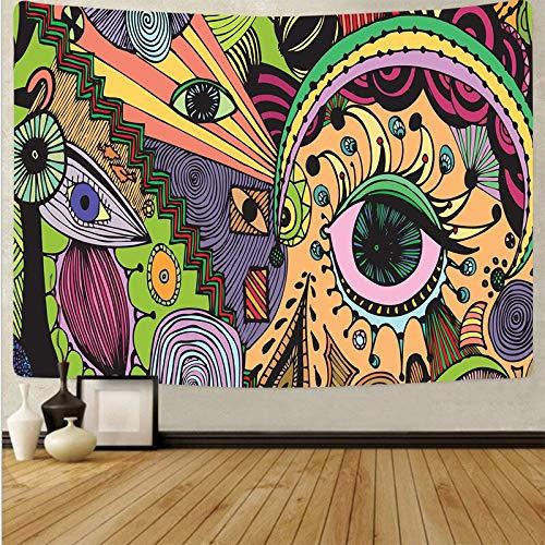 Arte psicodélico tela colgante decoración del hogar tapiz dormitorio dormitorio revestimiento de paredes tela de fondo abstracto a11 130x150 cm