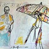 Salvar a sibylle Maier - tibetano encuentro original de acrílico de la pintura de...