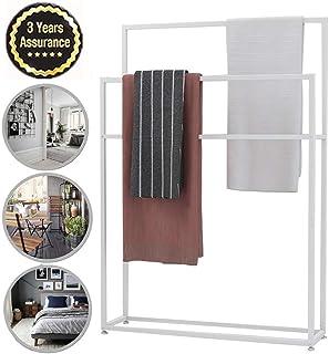 Ba/ño de estilo europeo todo blanco toallero largo ba/ño acero inoxidable toalla antigua colgante estante de un solo poste 70 cm
