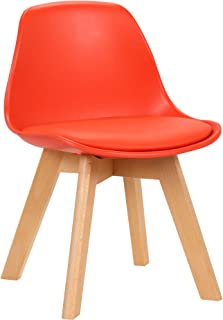 CLP Chaise pour Enfants Lindi en Similicuir I Chaise Basse pour Chambre d'enfants Coque en Plastique I Piètement en Bois D...