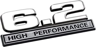 6.2 Liter High Performance Emblem in White and Chrome