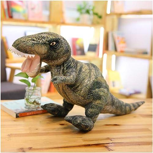 IIWOJ Simuliertes Dinosaurier-Kissen, Soft Plush Doll, Schlafkissen Kindergeburtstag Geschenk,TyrannosaurusRex,L