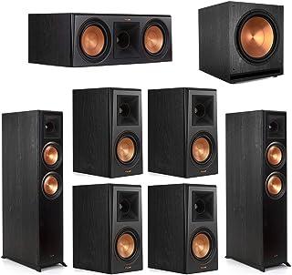 Klipsch7.1 Ebony Home Theater System - 2 RP-6000F, 1 RP-600C, 4 RP-500M, 1 SPL-150 Subwoofer