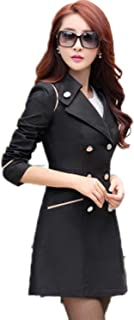 Spring Autumn Trench Coat Turn Down Collar Trench Coat Women Long Slim Double Breasted Coats