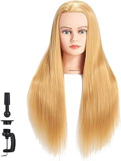 "Hairginkgo Mannequin Head 26""-28"" Super Long Synthetic Fiber Hair Manikin Head.."