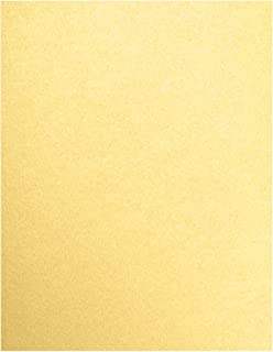 "LUXPaper 8.5"" x 11"" Cardstock for Crafts and Cards in 105 lb. Gold Metallic, Supplies, 50 Pack (Gold)"