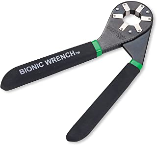 LoggerHead Tools 8 Inch Bionic Adjustable Wrench | 14 Wrenches in 1 | Grabs Bolt On All Six Sides | Patented Design Multiplies Gripping Force | Great Gifts for Men, Dad, Gadgets for men