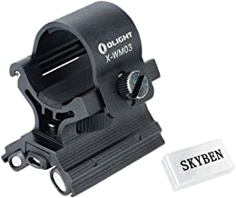 OLIGHT X-WM03 Flashlight Weapon Mount,Fits Javelot Pro,Warrior X,M3XS,M20 Series,M22,M23,M2X,Suitable for 23mm-26mm Diameter Sized Flashlights,with SKYBEN Battery Case