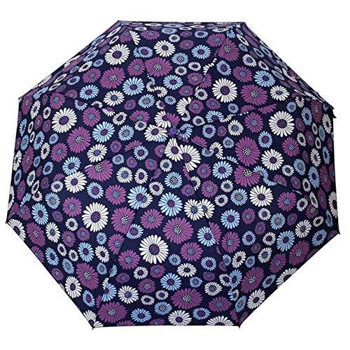 Sonnenschirm Regenschirm Kreative Blume Automatischer Regenschirm Regen Frauen Faltbare Männer Langlebige Starke Bunte Regenschirme Rainy Sunny Fashion Umbrella Navy