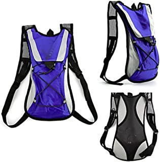 Rjj 5 L Bike Hydration Pack & Water Bladder Backpack Quick Dry Wearable Multifunctional Bike Bag Nylon Bicycle Bag Cycle Bag Camping/Hiking Fishing Climbing Exquisite (Color : Purple)