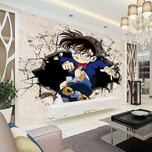 YIERLIFE 3D Wandbilder Selbstklebend Kinderzimmer - Skateboard gebrochene Wandlandschaft des Karikaturheldencharakters - Wandbild Tapete Fototapete Tapete Wohnzimmer TV Hintergrund Schlafzimmer Decke