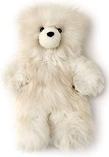 Baby Alpaca Fur Teddy Bear - Hand Made 12 Inch Champagne