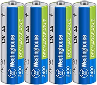 Westinghouse Pre Charged Always Ready AA 1.2 volt 2400mAh Ni-Mh Rechargeable Battery ( 4 Count)