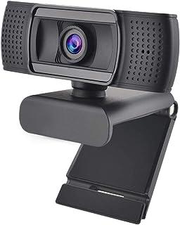 غطاء كاميرا الويب USB 2.0 Webcam Full HD For 1080P Ashu H601 Video Recording Webcam, With Microphone, For PC Laptop, Non-w...