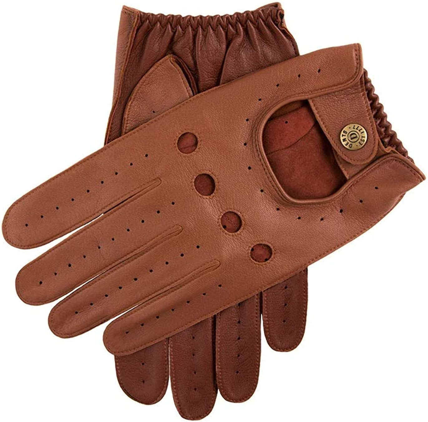 Dents Mens Leather Driving Gloves Houston Mall Cognac English Tan Fashion 5-1021