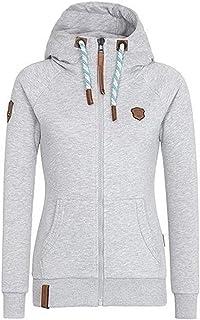 Tomsweet Women Autumn Winter Hoodies Fashion Casual Long Sleeve Jacket Outerwear Oblique Zipper Coat