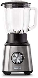 DASH Quest Countertop Blender 1.5L with Stainless Steel Blades for Coffee Drinks,Deserts,Frozen Cocktails,Purées,Shakes,Soups,Smoothies and More-Stainless(Renewed)