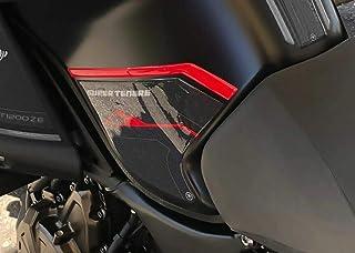 3D Gel Stickers Motorrad SEITENSCHUTZ kompatibel Yamaha SUPER TENERE rot