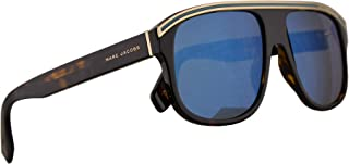 Marc Jacobs Marc 388/S Sunglasses Dark Havana w/Khaki Mirror Blue Lens 58mm 086 3U Marc 388S Marc388S Marc388/s
