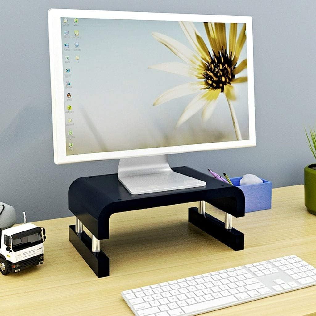 Laptops PC Bracket Neck Increase Shelf Desktop Storage Base Display Screen Raised TV Cabinet Monitor Screen Raised Rack Upgraded (Color : Black)