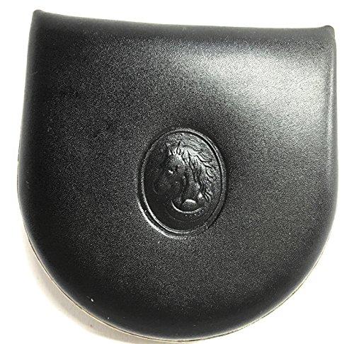 YOJAN PIEL | Monedero De Tacón De Cuero | Piel Ubrique | Diseño Elegante Y Clásico | Regalos Originales | Estilo Atemporal Y Unisex (Negro)