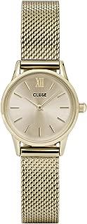 CLUSE La Vedette Mesh Full Gold CL50003 Women's Watch 24mm Stainless Steel Strap Minimalistic Design Casual Dress Japanese Quartz Elegant Timepiece