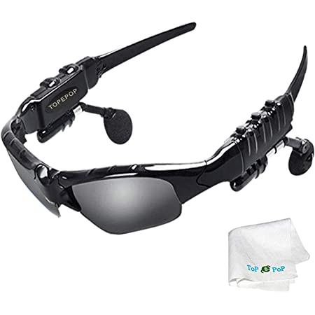 Bluetooth Sunglasses Glasses Wireless Music Sunglasses Sport Outdoor Stereo Headphones Handsfree Headset Compatible with IOS Android Cell Phones Smartphones Tablets PC Driving Biking