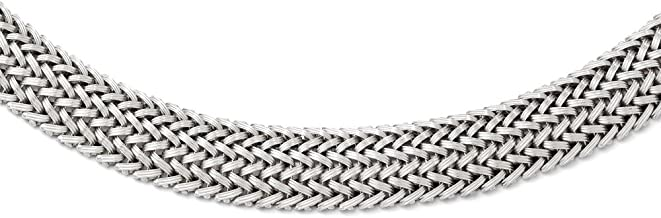 925 Sterling Silver Link Mesh Braided Chain Necklace Pendant Charm Fine Jewelry Gifts For Women For Her