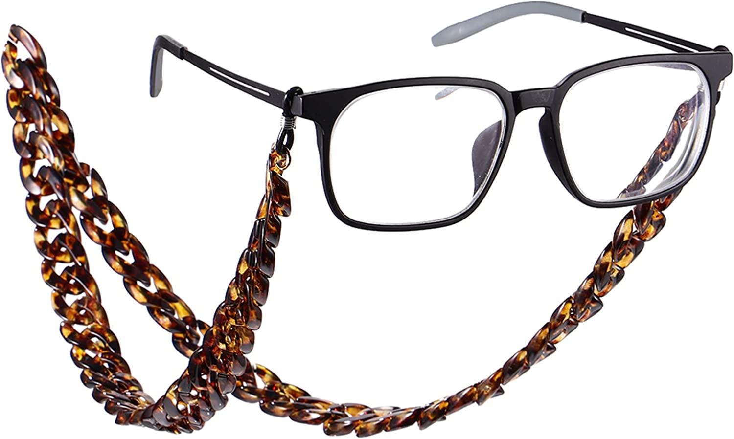 VALICLUD VALICLUD Anti- slip Spectacles Chain Universal Eyeglasses Cord Sunglasses Rope Exaggerated Neck Cord (Brown)