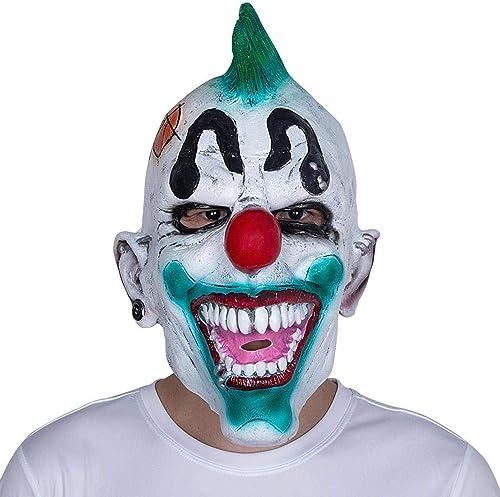 a precios asequibles XINXI Home Máscara de Payaso de Pelo verde de de de Halloween máscara de Peluca de látex de Horror Diverdeida Fiesta de graduación  disfruta ahorrando 30-50% de descuento