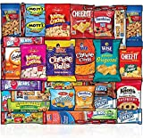Snacks Box (30 Count) Ultimate Sampler Box Cookies Chips Bar Candy Care Package for Meetings Schools Friends & Family Military Kids Adults College Students Final Exam Office Spring Snack Variety Pack