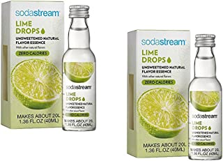 SodaStream Fruit Drops Lime Flavor 1.36 fl oz, Pack of 2