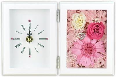 Lulu's プリザーブドフラワー ガーベラフレーム時計 サイズ幅21cm長さ6cm高さ14cm ピンク Lulu's-84