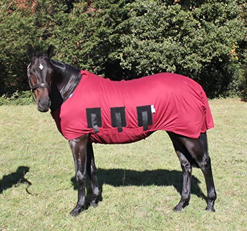 Snuggy Hoods weerbestendige Spik & Span onder tapijt met buik voor paard of pony (Bourgondië, 7'0